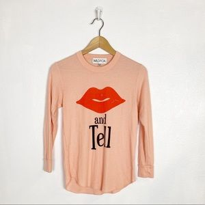 Wildfox kiss and tell thermal Henley